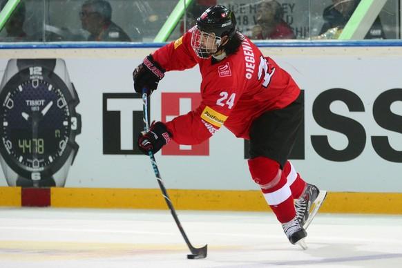 17.04.2015; Zug; Eishockey U18 WM - Finnland - Schweiz;Jonas Siegenthaler (SUI) (Andy Mueller/freshfocus)