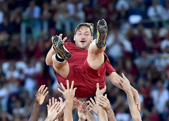 Hoch lebe Francesco Totti! Am 28. Mai 2017 bestreitet der Offensivspieler sein letztes Spiel für die AS Roma.