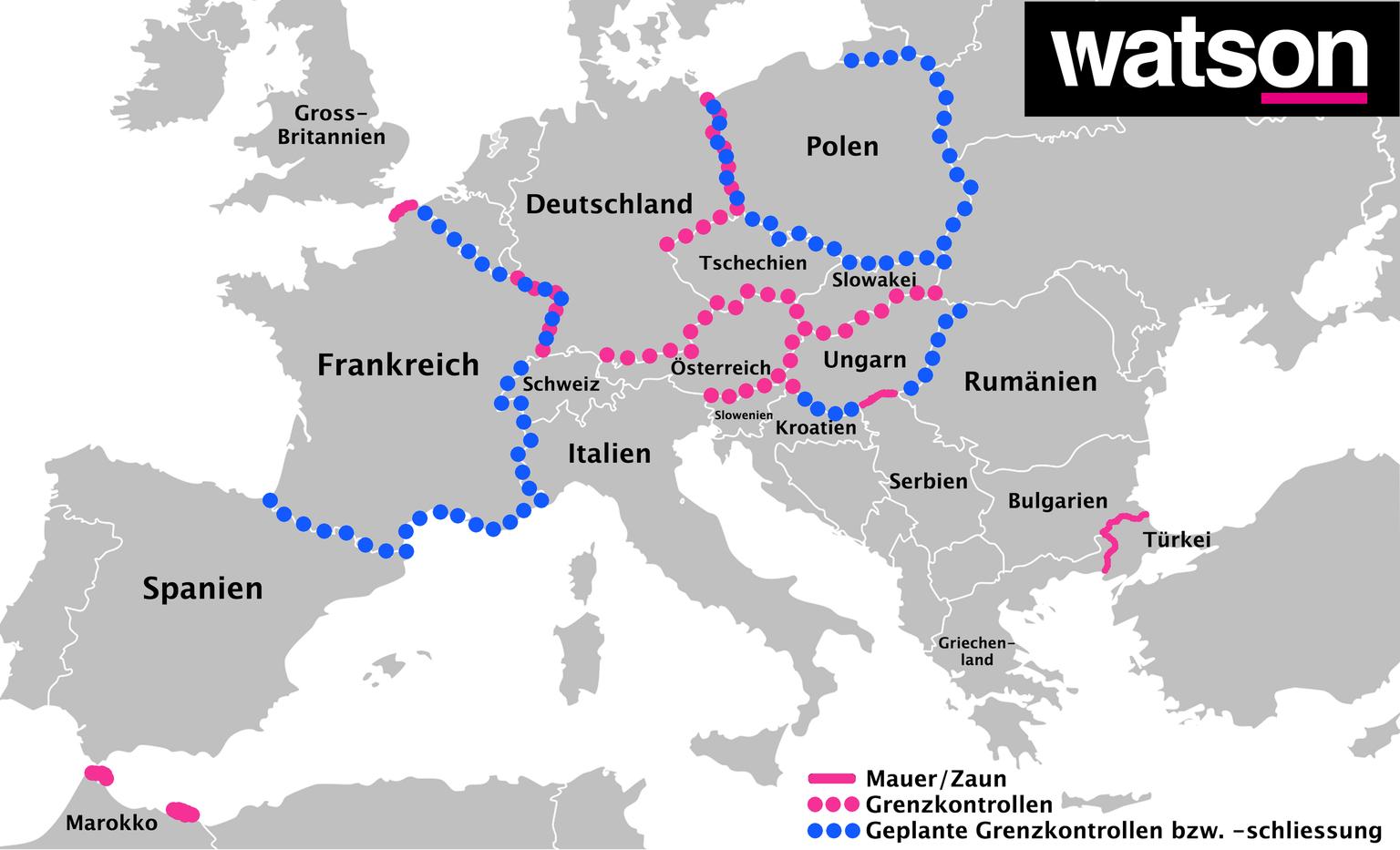 Länder Europas Karte.Europa Karte Diese Länder Schliessen Ihre Grenzen Watson