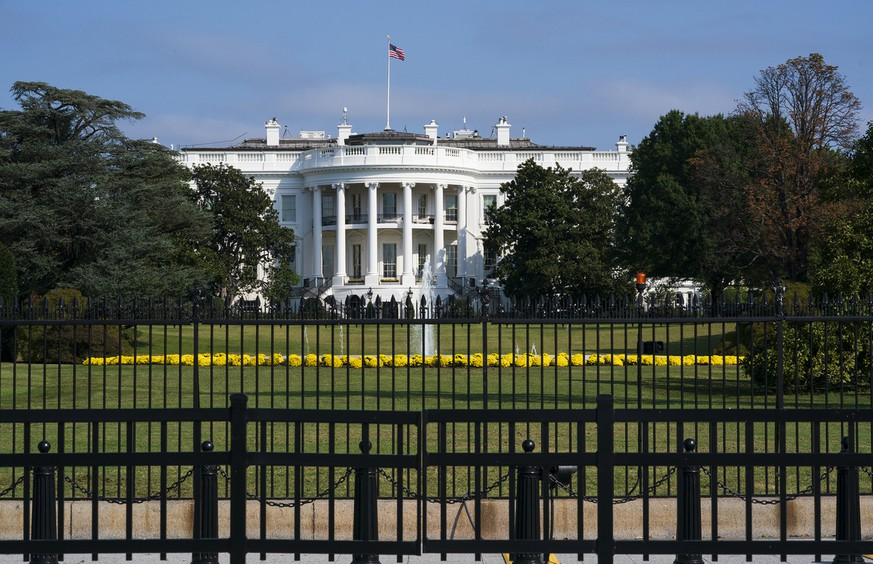 The White House is seen in Washington, Tuesday, Oct. 1, 2019, as House Democrats move aggressively in their impeachment inquiry of President Donald Trump. (AP Photo/J. Scott Applewhite)