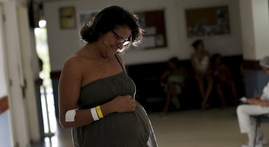 Elizangela Marques, who is six months pregnant, poses for a picture at the IMIP hospital in Recife, Brazil, January 28, 2016. Worried about being infected by the fast-spreading mosquito-borne Zika virus during her pregnancy, Elizangela is awaiting the outcome of medical tests for the Zika virus. Zika infection has been linked to an unprecedented surge in Brazil of cases of newborns with shrunken heads and brain damage. The epidemic of microcephaly has made many Brazilians think twice about getting pregnant. REUTERS/Ueslei Marcelino