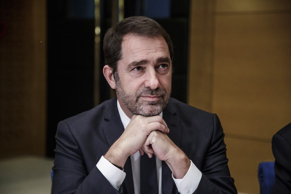 epa07290271 French Interior Minister Christophe Castaner attends a hearing at the French Senate concerning the scandal of President Macron's security chief Alexandre Benalla, in Paris, France, 16 January 2019. The hearing is in connection to the Alexandre Benalla's scandal, in order to shed more light on Benalla's responsibilities and role within the Elysee Palace. Benalla is accused of attacking protesters during street demonstrations on 01 May 2018, wearing a riot helmet and police uniform, then when he was French President Emmanuel Macron's deputy chief of staff.  EPA/CHRISTOPHE PETIT TESSON