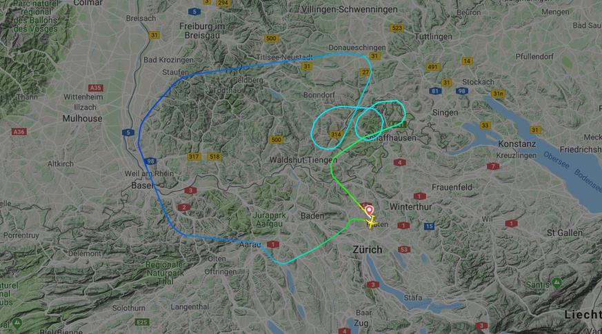 Von Blitz Getroffen Swiss Flug Nach Amsterdam Kehrt Um Watson