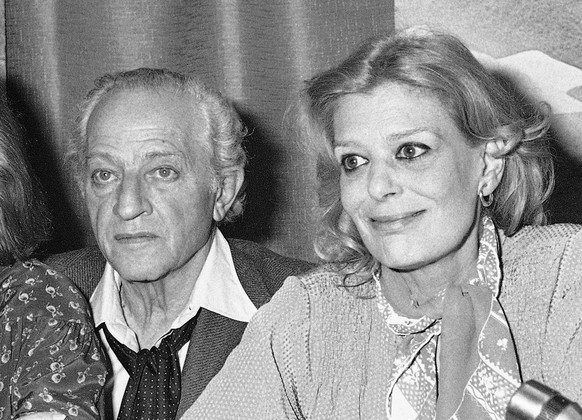Actress Melina Mercouri  and her husband,director Jules Dassin talk to the media at the 31st International Film Festival in Cannes, France in 1978. Dassin died late Monday, March 31, 2008, at an Athens hospital, officials said. He was 96. (AP Photo/Jean Jacques Levy)