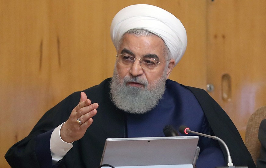 epa07554844 A handout photo made available by the Iranian Presidency Office shows Iran's President Hassan Rouhani speaking during a government meeting in Tehran, Iran, 08 May 2019. State broadcaster IRIB reported on 08 May 2019 that President Hassan Rouhani announced Iran's decision to pull out from part of a 2015 international nuclear deal, a year after US President Trump withdrew from the agreement. The move was formally conveyed to ambassadors to countries remaining inside the deal (Germany, France, Russia, Britain and China). According to reports, Rouhani said that after 60 days, the Islamic Republic would increase uranium enrichment level.  EPA/IRANIAN PRESIDENCY OFFICE HANDOUT  HANDOUT EDITORIAL USE ONLY/NO SALES