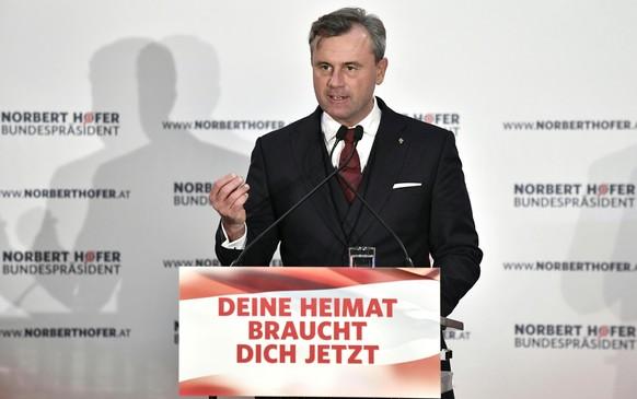 OESTERREICH WAHLKAMPFABSCHLUSS NORBERT HOFER