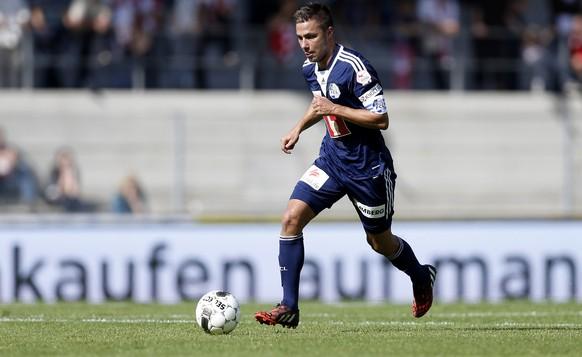 05.10.2014; Sion; Fussball Super League - FC Sion - FC Luzern: Alain Wiss (Luzern)(Christian Pfander/freshfocus)