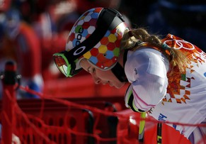 Liechtenstein's Tina Weirather is seen as she takes part in the second training session for the women's alpine skiing downhill event during the 2014 Sochi Winter Olympics at the Rosa Khutor Alpine Center February 7, 2014.              REUTERS/Leonhard Foeger (RUSSIA  - Tags: SPORT SKIING OLYMPICS)