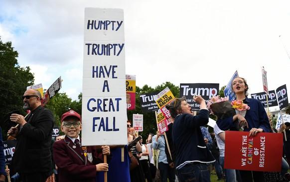 BRITAIN USA TRUMP STATE VISIT