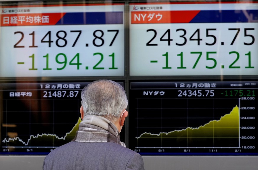 DOW-FLASH: Index sackt unter 25 000 Punkte - Zinsangst