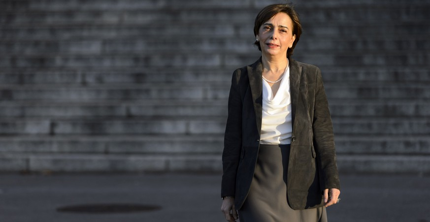 Yasmine Motarjemi, former assistant vice president in charge of food safety at Nestle, poses in front of the courthouse of the Canton of Vaud,