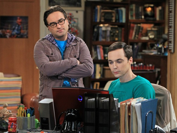 This image released by CBS shows Johnny Galecki, left, and Jim Parsons in a scene from