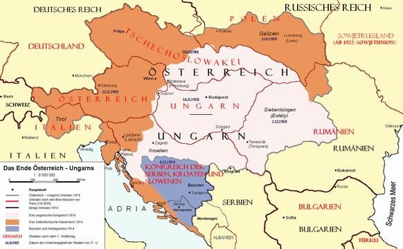 zerfall doppelmonarchie österreich-ungarn 1918 wikipedia