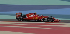 Ferrari driver Kimi Raikkonen of Finland  steers his car during the first free practice ahead of the Bahrain Formula One Grand Prix at the Formula One Bahrain International Circuit in Sakhir, Bahrain, Friday, April 17, 2015. The Bahrain Formula One Grand Prix will take place on Sunday. (AP Photo/Luca Bruno)