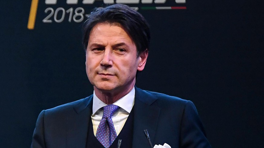 epa06754471 (FILE) - 5-Star Movement candidate for the Public Administration Minister Giuseppe Conte in case of victory in the general elections during an election event in Rome, Italy, 01 March 2018 (reissued 21 May 2018). Right-wing populist Lega and the Five Star Movement (M5S) proposed Giuseppe Conte proposed as Prime Minister for Italy, M5S leader announced 21 May 2018. General elections in Italy were held on 04 March 2018. *** Local Caption *** 54166233