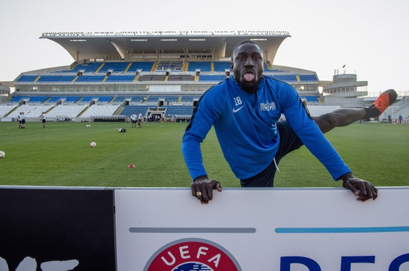 epa07032501 Zuerich`s Pa Modou during the training session the day before the UEFA Europa League match between AEK Larnaca FC and Switzerland's FC Zuerich, at the Neo GSP stadium in Nikosia, Cyprus, on Wednesday, September 19, 2018.  EPA/MELANIE DUCHENE