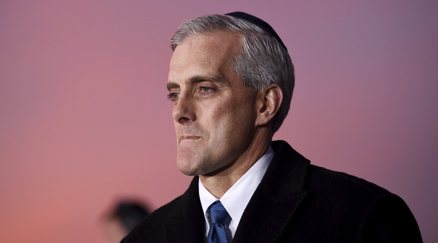 The White House Chief of Staff Denis McDonough attends a ceremony to light the U.S. National Chanukah (Hanukkah) Menorah on the Ellipse in Washington, December 6, 2015. REUTERS/Sait Serkan Gurbuz