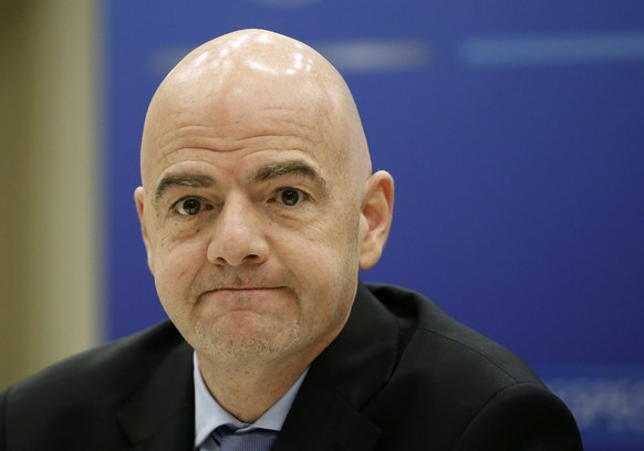 UEFA General Secretary Gianni Infantino attends a news conference after a UEFA Executive Committee meeting ahead of the annual congress in Vienna March 23, 2015. The UEFA annual congress takes place March 24, 2015 in Vienna.   REUTERS/Leonhard Foeger (AUSTRIA)