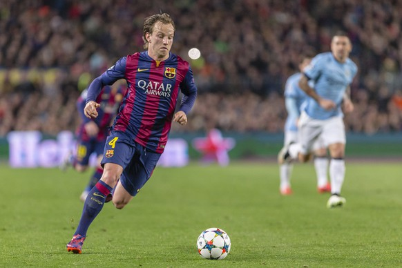 18.05.2015; Barcelona; Fussball Champions League - FC Barcelona - Manchester City:Ivan Rakitic (Barcelona) (Mikel Trigueros/CordonPress/freshfocus)