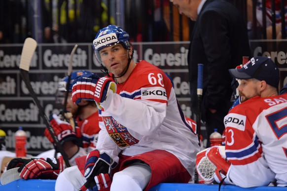 Prag, 17.5.2015, Eishockey WM 2015 - USA - Tschechien, Jaromir Jagr (cze) (Melanie Duchene/EQ Images)