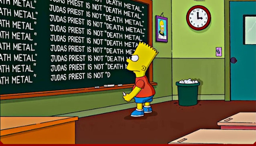 bart simpson judas priest death metal heavy metal