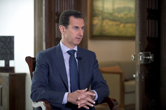FILE - In this Wednesday, Sept. 21, 2016 photo released by the Syrian Presidency, Syrian President Bashar Assad speaks to The Associated Press at the presidential palace in Damascus, Syria. Egypt's subtle support for Assad and close ties to Russia, for example, puts the most populous Arab nation at odds with the Saudis, who support anti-government Islamist rebel groups in Syria and sees no alternative to Assad's departure. (Syrian Presidency via AP, File)