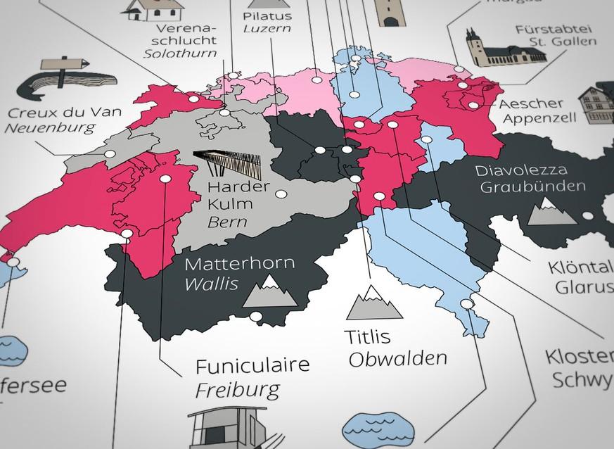 Ausflugsziele Schweiz: Das sind die beliebtesten Sehenswürdigkeiten
