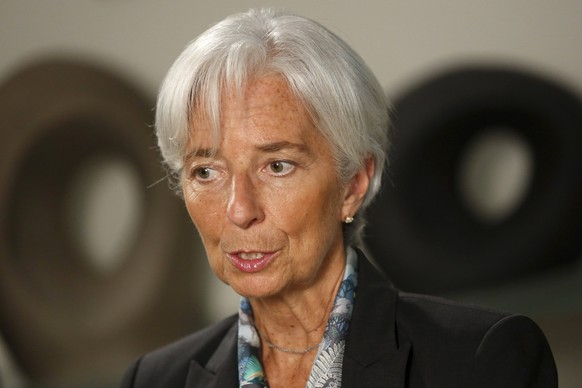 International Monetary Fund (IMF) Managing Director Christine Lagarde sits for an interview at IMF headquarters in Washington July 1, 2015. Greece's last-minute overtures to international creditors for financial aid on Tuesday were not enough to save the country from becoming the first developed economy to default on a loan with the International Monetary Fund. REUTERS/Jonathan Ernst