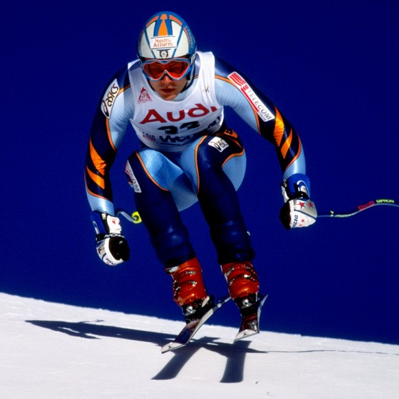 15 Jan 2000:   Roland Fischnaller of Italy in action during the World Cup Skiing held in Wengen, Switzerland. \ Mandatory Credit: Mike Hewitt /Allsport