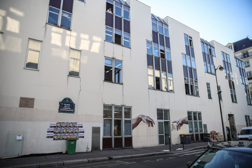 epa08696029 (FILE) A general view of the former head offices of the satirical newspaper Charlie Hebdo, in Paris, France, 02 September 2020 (reissued 25 September 2020). Four people have been wounded in a knife attack near former Charlie Hebdo offices, in Paris, France, on 25 September 2020. According to recent reports, two assailants are on the run.  EPA/MOHAMMED BADRA