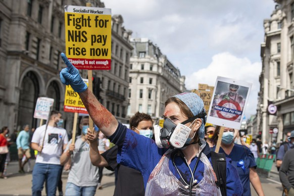 Britain NHS Protest