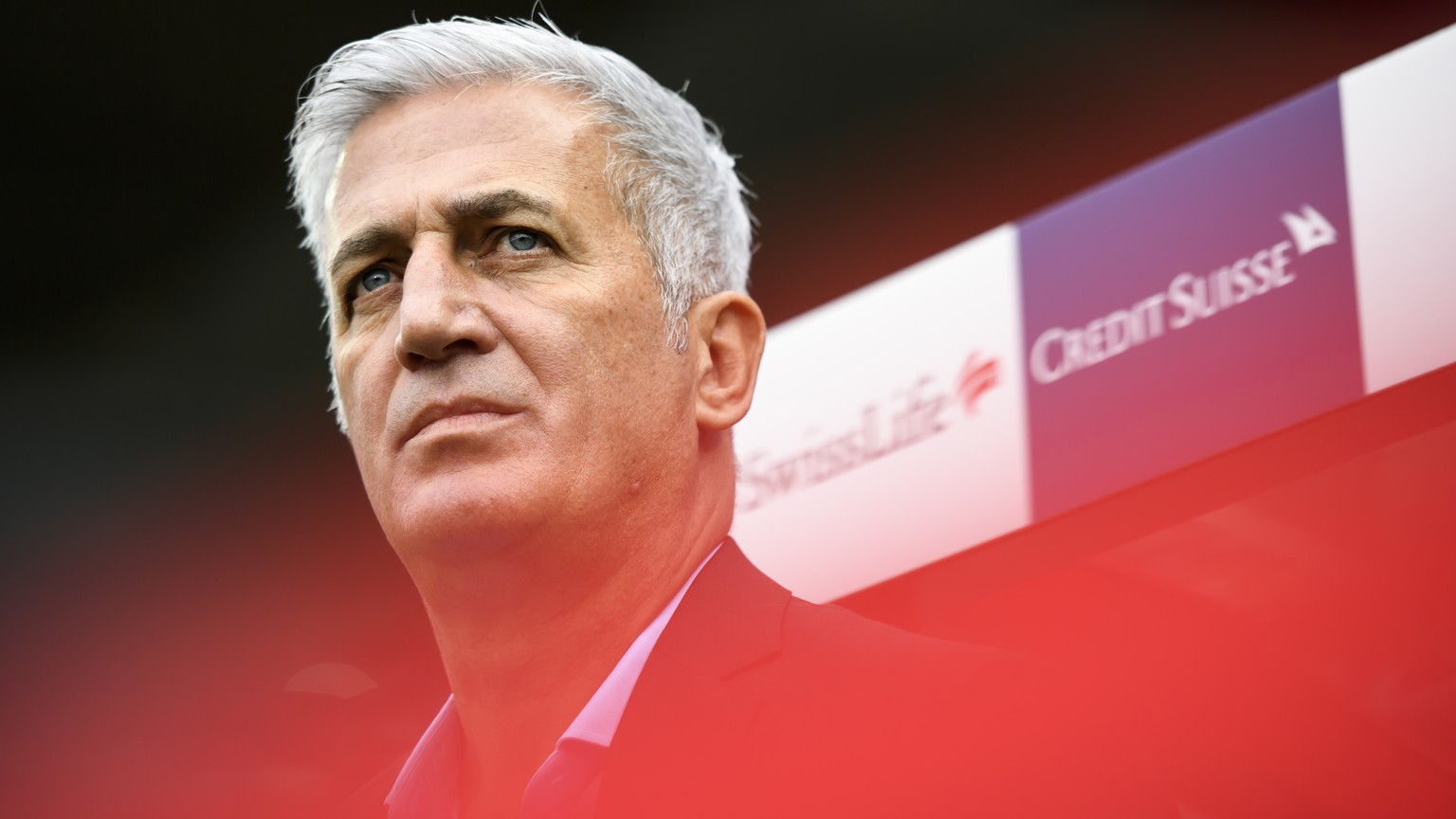 Switzerland's head coach Vladimir Petkovic, pictured during the UEFA Euro 2020 qualifying Group D soccer match between the Switzerland and Gibraltar, at the Tourbillon Stadium in Sion, Switzerland, Sunday, September 8, 2019. (KEYSTONE/Anthony Anex)