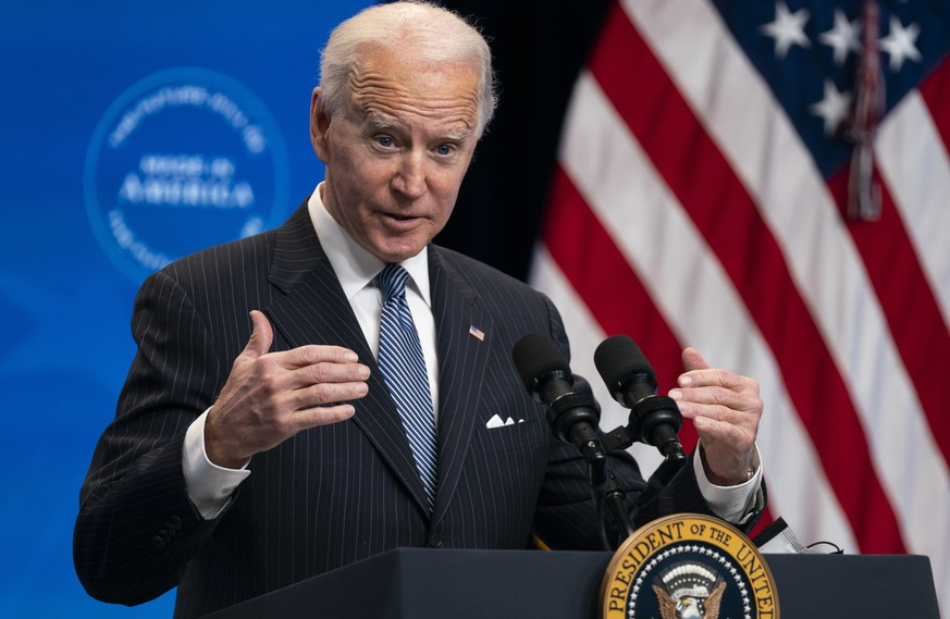 FILE - In this Jan. 25, 2021, file photo, President Joe Biden answers questions from reporters in the South Court Auditorium on the White House complex, in Washington. Biden is unlikely to confront China on trade right away because he wants to focus on the coronavirus and the economy, but he does look set to renew pressure over trade and technology grievances that prompted President Donald Trump to hike tariffs on Chinese imports in 2017. (AP Photo/Evan Vucci, File) Joe Biden