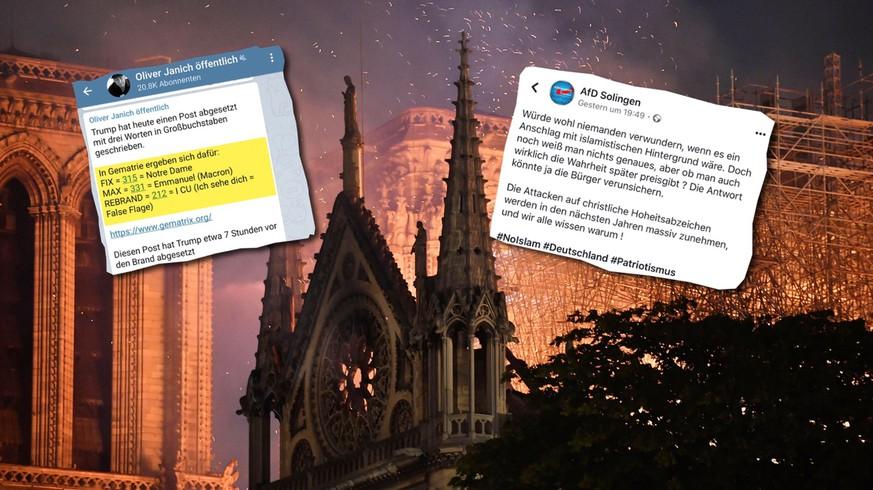 So instrumentalisieren rechte Ideologen den Brand von Notre-Dame für ihre Zwecke