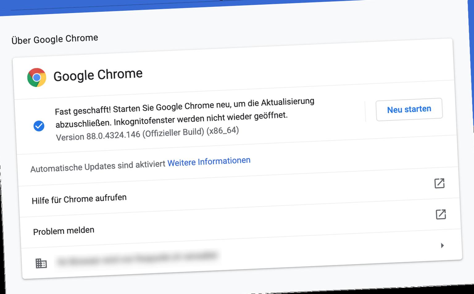 Dieses Update für Google Chrome sollte man sofort installieren