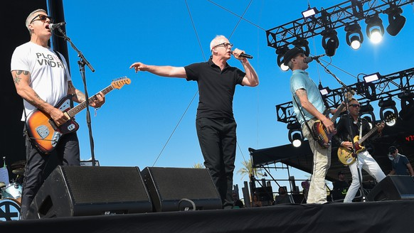 Bad Religion performs at the 2015 Coachella Music and Arts Festival on Saturday, April 11, 2015, in Indio, Calif. (Photo by Scott Roth/Invision/AP)