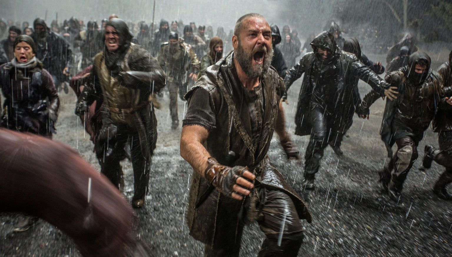 "This image released by Paramount Pictures shows Russell Crowe in a scene from ""Noah."" (AP Photo/Paramount Pictures, Niko Tavernise)"