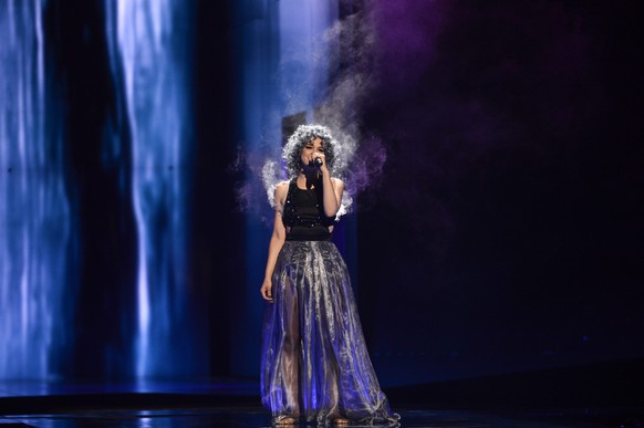 epa05300170 Rykka of Switzerland performs the song 'The Last Of Our Kind' during rehearsals for the Second Semi-Final of the 61st annual Eurovision Song Contest (ESC) at the Ericsson Globe in Stockholm, Sweden, 11 May 2016. The event's grand final takes place on 14 May.  EPA/MAJA SUSLIN SWEDEN OUT