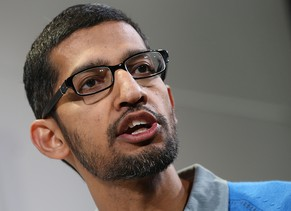SAN FRANCISCO, CA - JULY 24:  Sundar Pichai, Google's senior vice president in charge of Android and Chrome, speaks during a special event at Dogpatch Studios on July 24, 2013 in San Francisco, California.  Google announced a new Asus Nexus 7 tablet.  (Photo by Justin Sullivan/Getty Images)