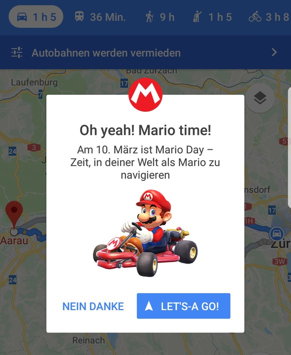 So Kannst Du Super Mario In Google Maps Aktivieren Watson