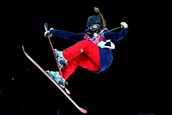SOCHI, RUSSIA - FEBRUARY 20: Maddie Bowman of the United States competes in the Freestyle Skiing Ladies' Ski Halfpipe Qualification on day thirteen of the 2014 Winter Olympics at Rosa Khutor Extreme Park on February 20, 2014 in Sochi, Russia.  (Photo by Streeter Lecka/Getty Images)