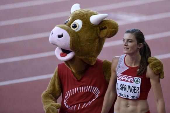 14.Aug.2014; Zuerich; Leichtathletik - EM Zuerich 2014; Lea Sprunger (SUI) 200 Meter (Valeriano Di Domenico/freshfocus)