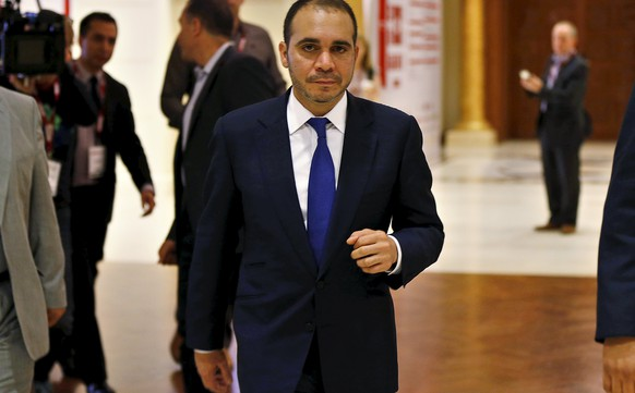 Jordan's Prince Ali Bin Al Hussein, FIFA presidential candidate, attends the Soccerex Asian Forum on developing the business of football in Asia at the King Hussein Convention Center at the Dead Sea, Jordan, May 4, 2015. REUTERS/Muhammad Hamed