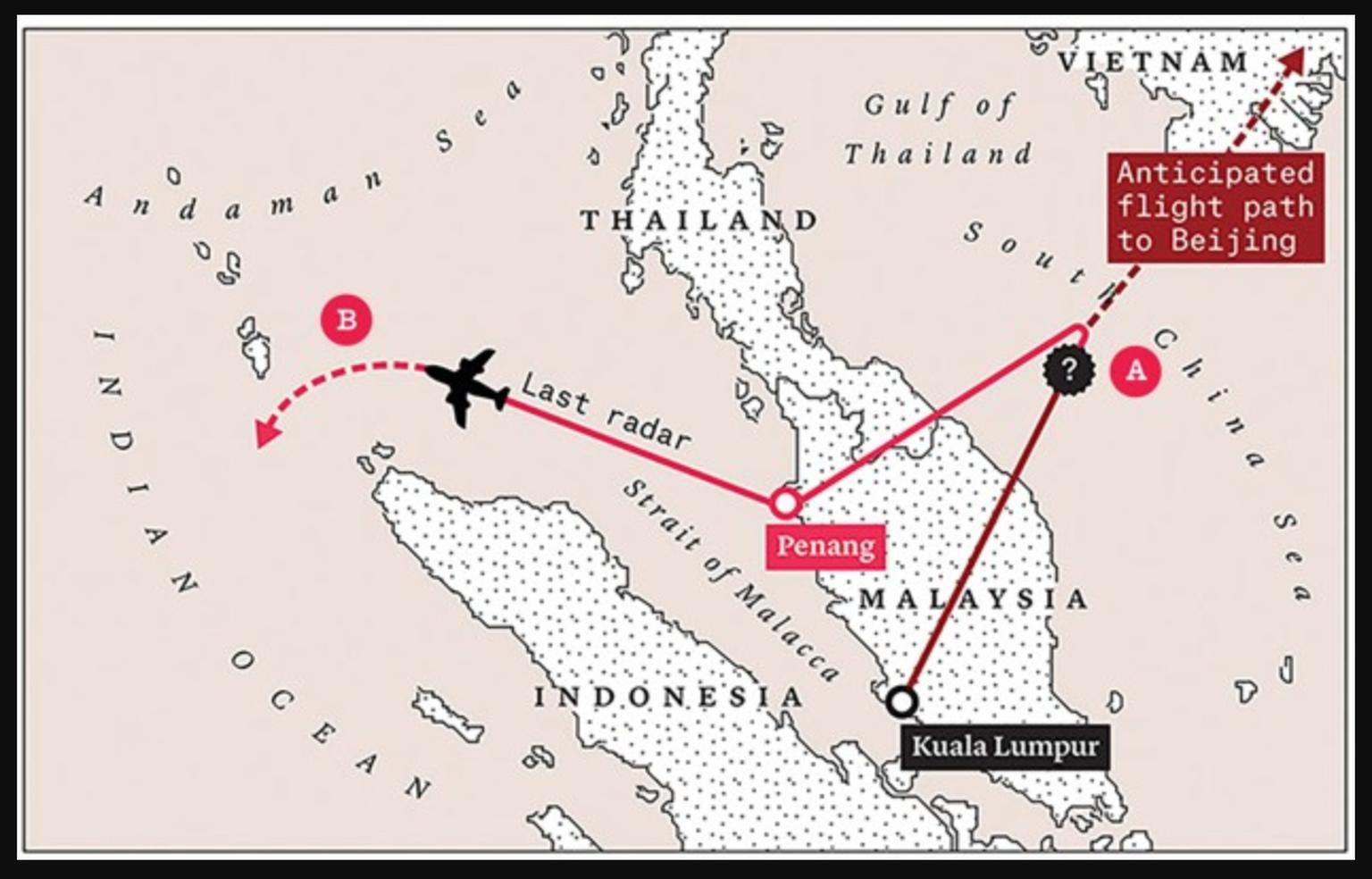 Flug MH370: Absturz der Malaysia Airlines ins Meer, alle ...