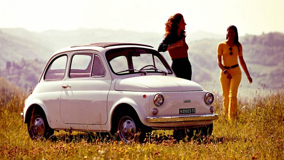 This image provided by Fiat, Wednesday, March 21, 2007, shows an undated photo of the Nuova Fiat 500 car. In Turin on  July 4, 1957, Fiat presented the Nuova Fiat 500, exactly 50 years later, on July 4, 2007  Fiat will present the new Fiat 500 which will marketed immediately after the launch. (AP Photo/Fiat, h.o.)