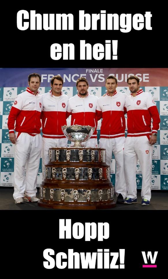 Meme Chum bringet en hei! Davis Cup Schweiz Frankreich