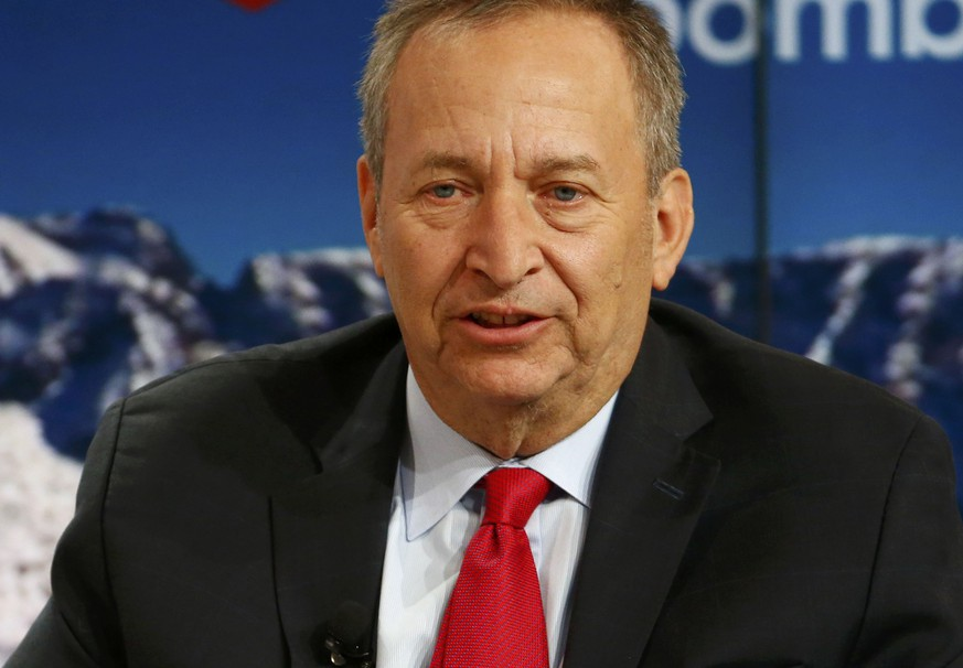 Lawrence Summers, Charles W. Eliot University Professor, Harvard University, speaks at the Ending the Experiment event in the Swiss mountain resort of Davos January 22, 2015. More than 1,500 business leaders and 40 heads of state or government attend the Jan. 21-24 meeting of the World Economic Forum (WEF) to network and discuss big themes, from the price of oil to the future of the Internet. This year they are meeting in the midst of upheaval, with security forces on heightened alert after attacks in Paris, the European Central Bank considering a radical government bond-buying programme and the safe-haven Swiss franc rocketing.                       REUTERS/Ruben Sprich (SWITZERLAND  - Tags: BUSINESS POLITICS)