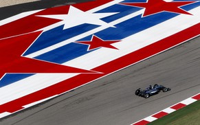 Mercedes Formula One driver Lewis Hamilton of Britain drives during the first free practice session of the United States F1 Grand Prix at the Circuit of The Americas in Austin, Texas October 31, 2014. The United States Grand Prix will take place on Sunday. REUTERS/Mike Stone (UNITED STATES - Tags: SPORT MOTORSPORT F1)