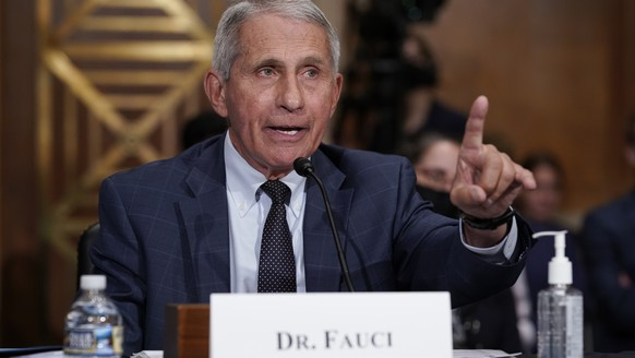 FILE - Dr. Anthony Fauci testifies before the Senate Health, Education, Labor, and Pensions Committee, on Capitol Hill in Washington, Tuesday, July 20, 2021. Dr. Fauci says he