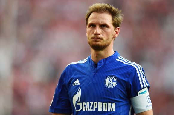 COLOGNE, GERMANY - MAY 10: Benedikt Hoewedes of Schalke reacts after the Bundesliga match between 1. FC Koeln and FC Schalke 04 at RheinEnergieStadion on May 10, 2015 in Cologne, Germany.  (Photo by Lars Baron/Bongarts/Getty Images)